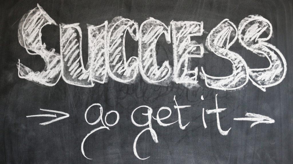 Succes written on Blackboard
