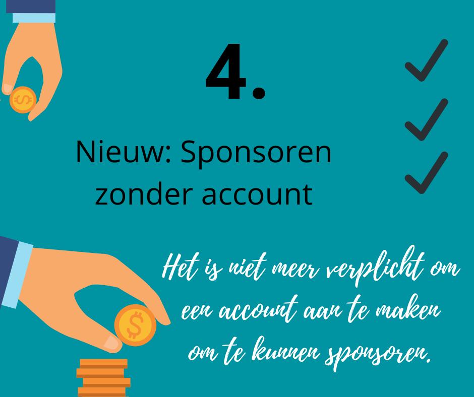 sponsoren zonder account mogelijk