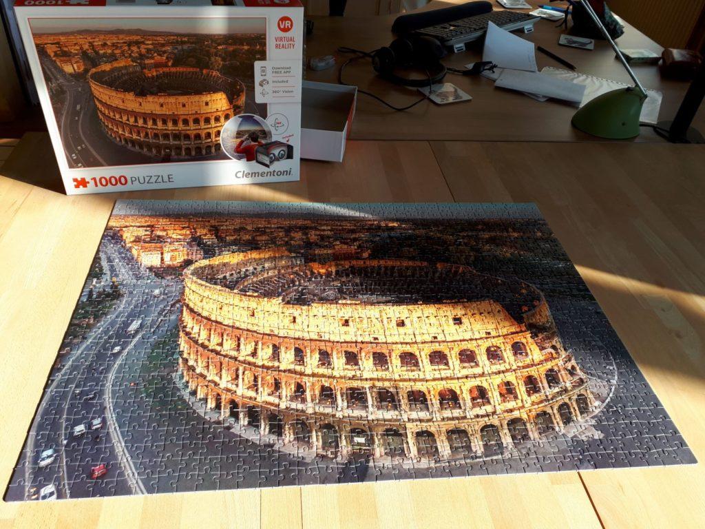 Afgewerkte puzzel van het Colosseum